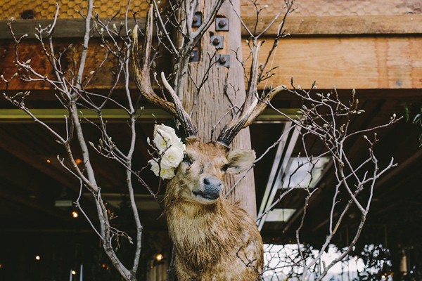woodland inspired reception - photo by Lara Hotz Photography http://ruffledblog.com/botanical-australian-barn-wedding