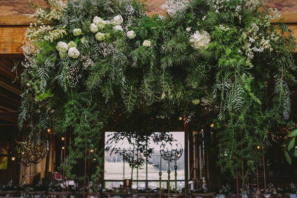 wedding greenery - photo by Lara Hotz Photography http://ruffledblog.com/botanical-australian-barn-wedding