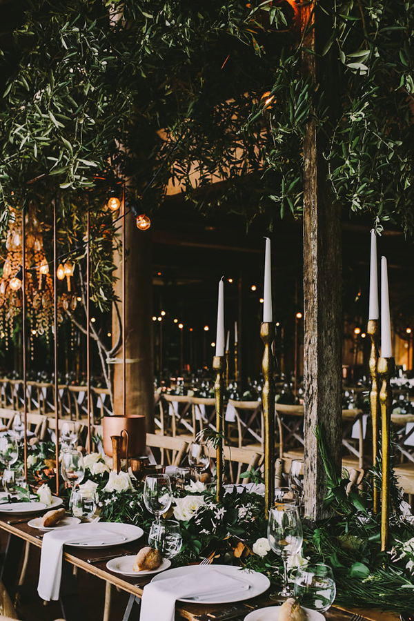 romantic wedding with metallic details - photo by Lara Hotz Photography http://ruffledblog.com/botanical-australian-barn-wedding