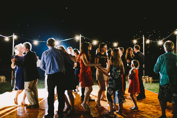 wedding dancing - photo by Lara Hotz Photography http://ruffledblog.com/botanical-australian-barn-wedding
