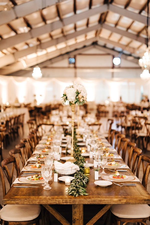 wedding tablescape - photo by Steve Stanton Photography http://ruffledblog.com/greek-inspired-colorado-ranch-wedding