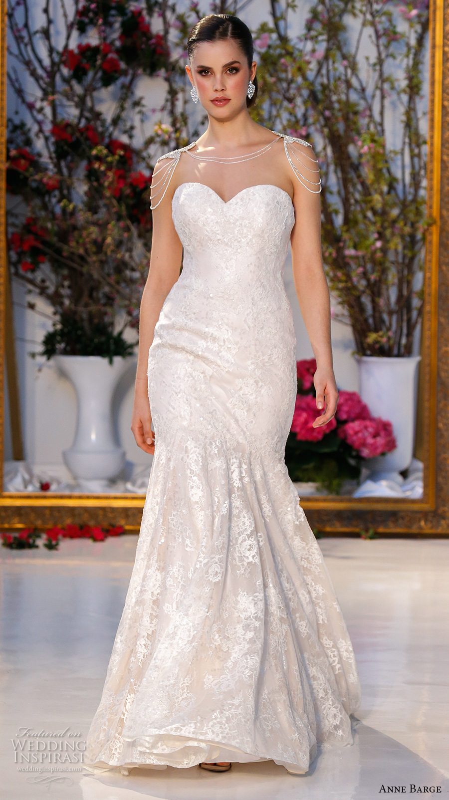 anne barge spring 2017 bridal strapless sweetheart neckline full embellished gorgeous fit to flare wedding dress sweep train (010) mv