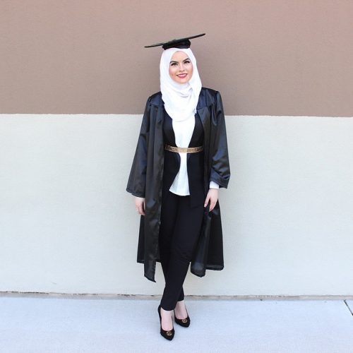 e85ed7b44bf  17- Black and White Decent Combo. hg2. Source. Related ItemsGraduationHijab Outfit18WaysWear