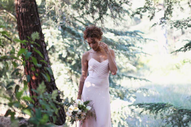 Rose quartz wedding dress from Celia Grace | Alissa Noelle Photography