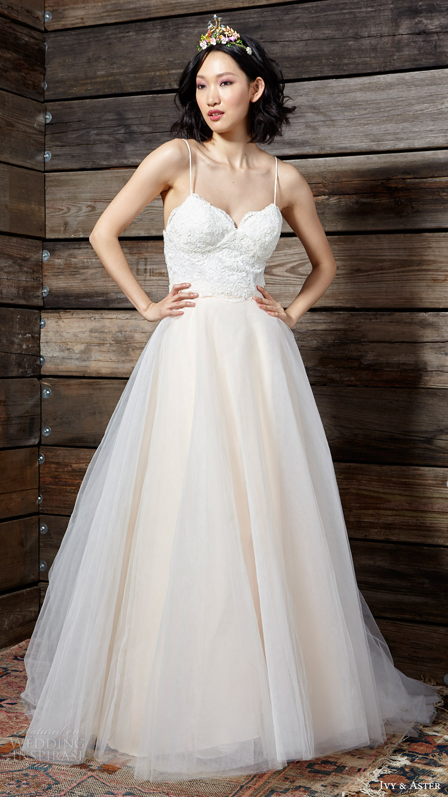 ivy aster bridal spring 2017 lace top ball gown skirt (sadie duchess iii) mv