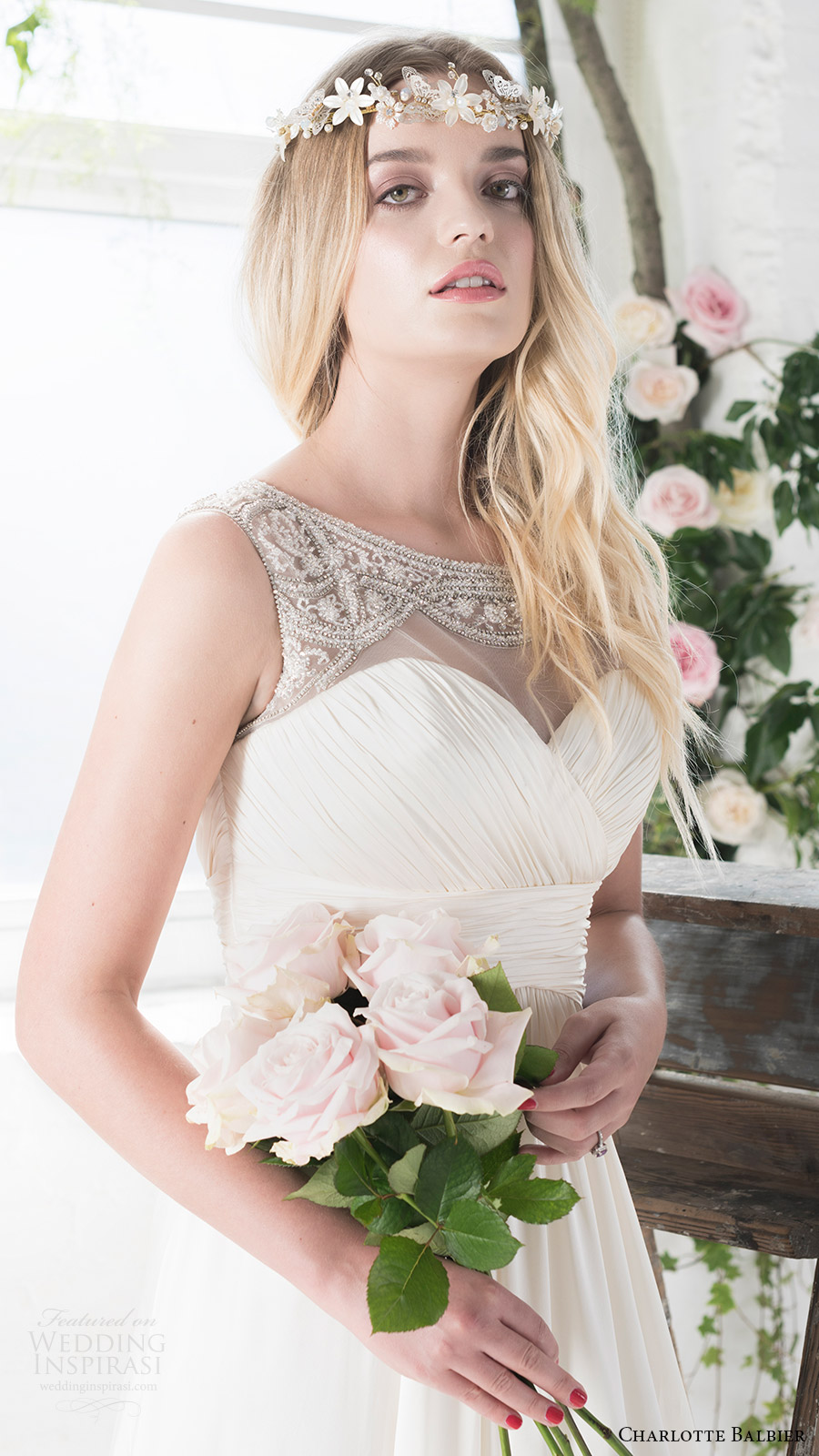 charlotte balbier bridal 2017 sleeveless sweetheart illusion jewel neck aline wedding dress (rosalie) mv