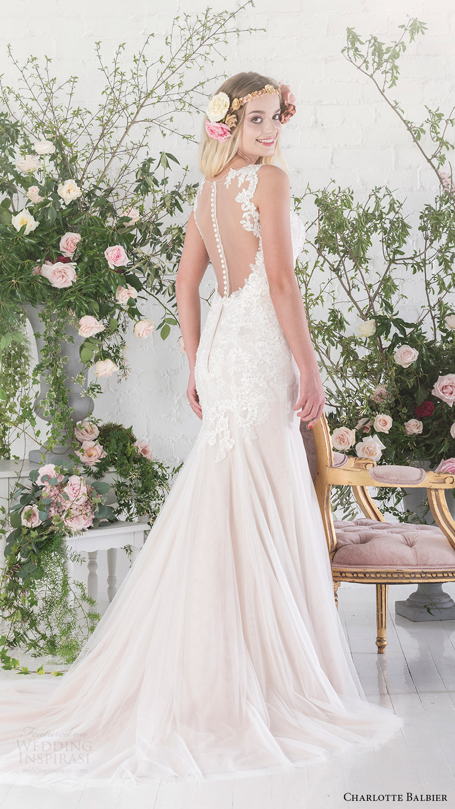 charlotte balbier bridal 2017 sleeveless sweetheart trumpet wedding dress (paige) bv sheer back train