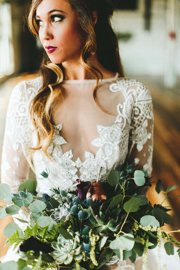 lace illusion neckline - photo by Giving Tree Photography http://ruffledblog.com/copper-fruit-wedding-inspiration