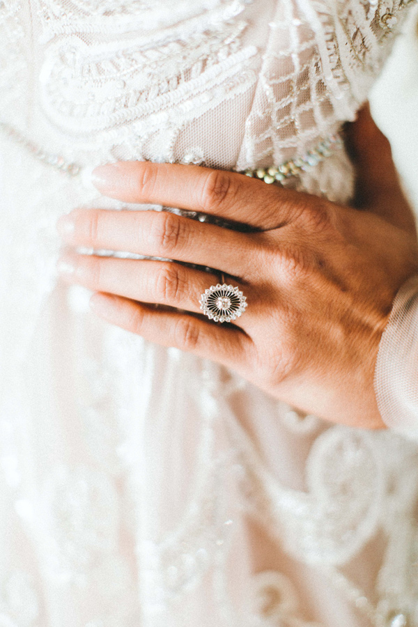 unique vintage engagement ring - photo by Giving Tree Photography http://ruffledblog.com/copper-fruit-wedding-inspiration