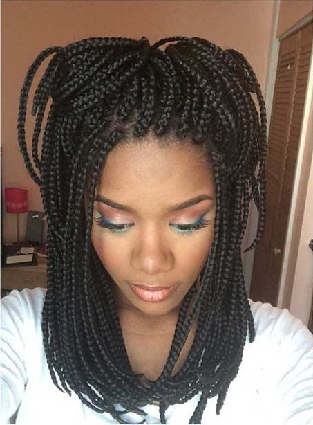 Small Medium Length Poetic Justice Braids