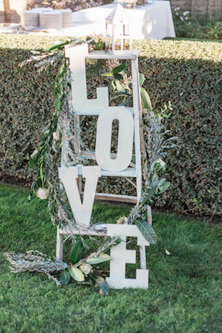 Love sign on vintage ladder | Katlyn Marie PhotoArt