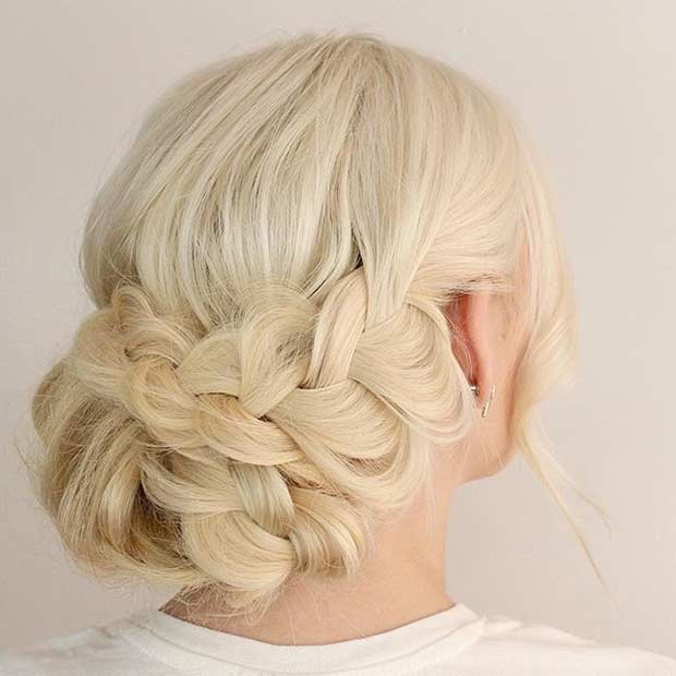 Boho Braided Updo for Blondes