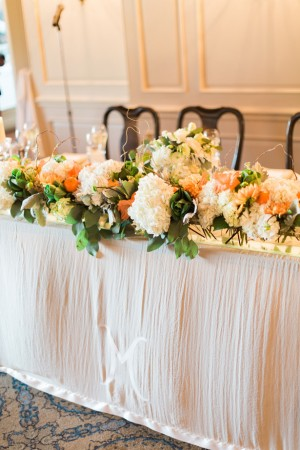Wedding floral centerpiece - Blaine Siesser Photography