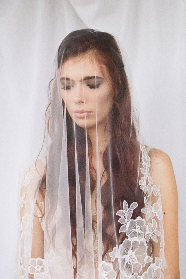 Bride with lace veil | Jess Watson Photography