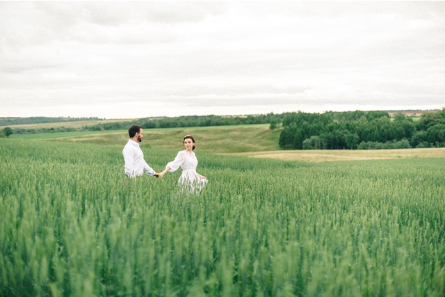 Bride and groom Russian styled shoot