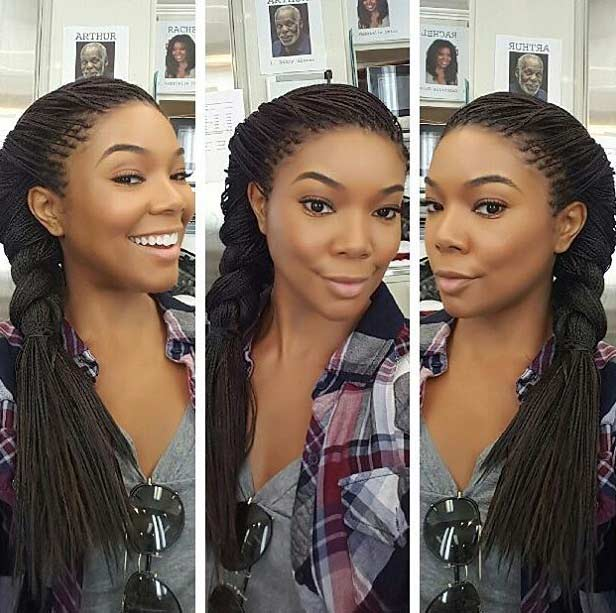 Micro Braids into a Side Braid