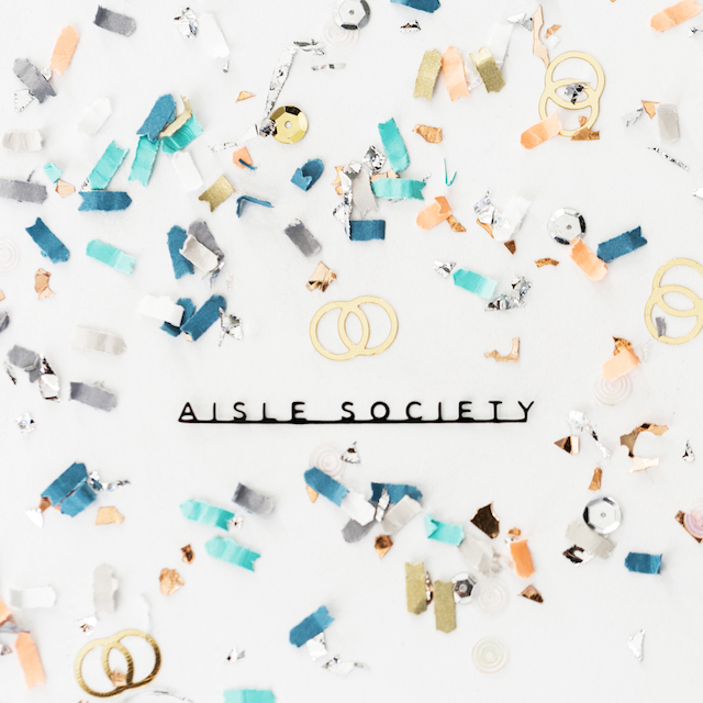 @aislesociety confetti from the Confetti Bar | Alexis June Weddings
