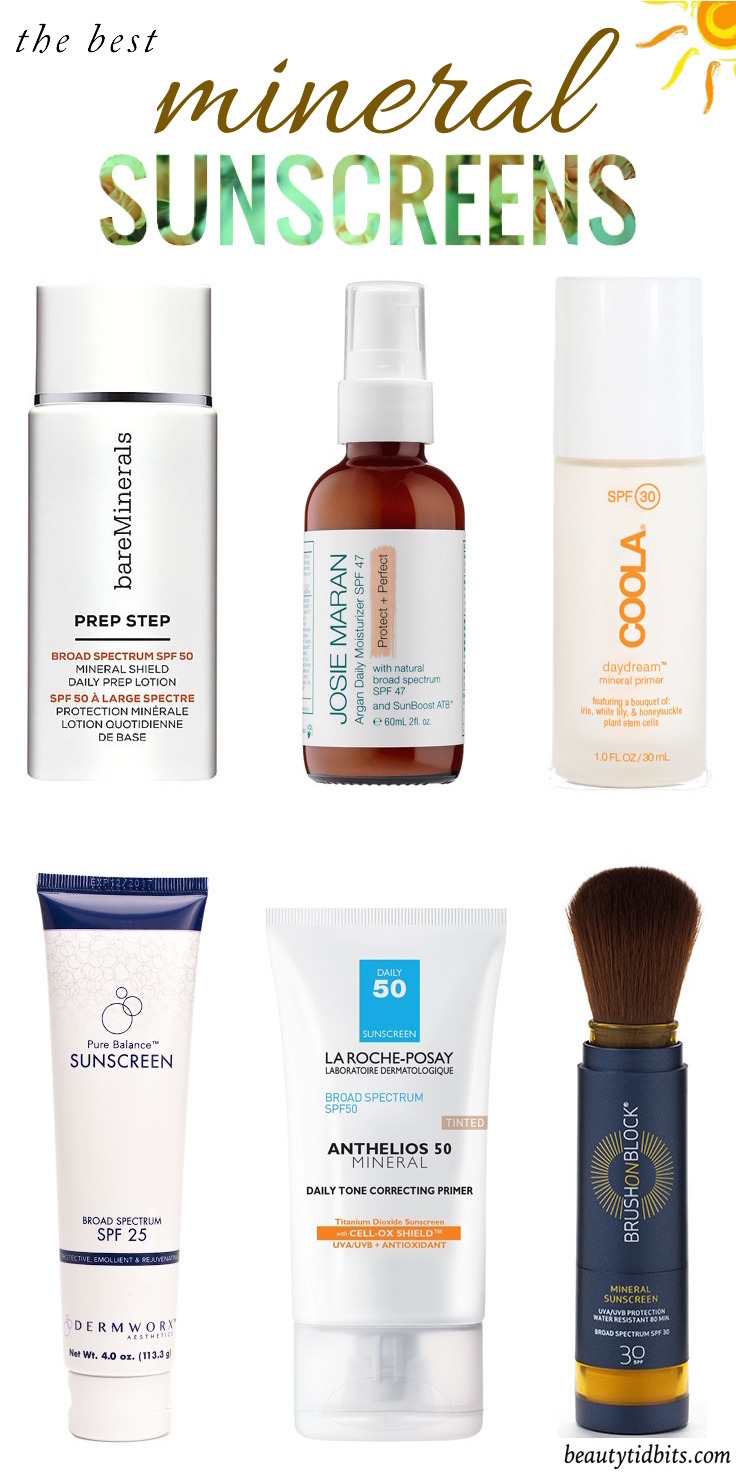 Looking for the best mineral sunscreen for your face? Click through for 6 tried-and-true physical sunscreens that won't leave your face pasty white, sticky or greasy! And there's one for every skin type, lifestyle and budget!