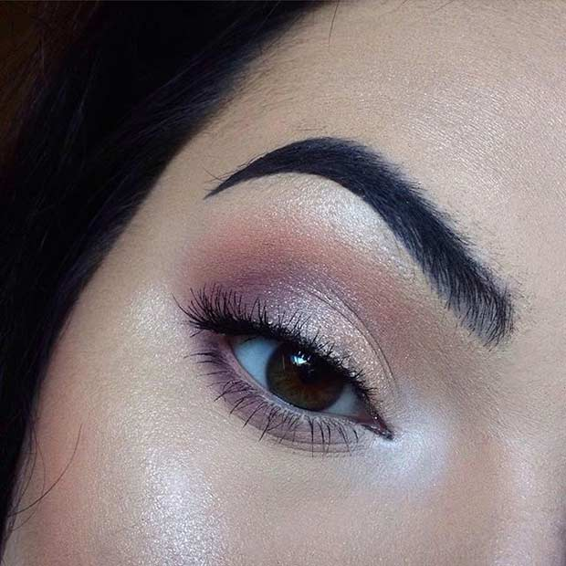 Soft Glittery Glam Eye Makeup Look for Brides