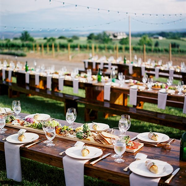 wedding food ideas photo by Ryan Flynn Photography http://ruffledblog.com/walla-walla-vineyard-wedding