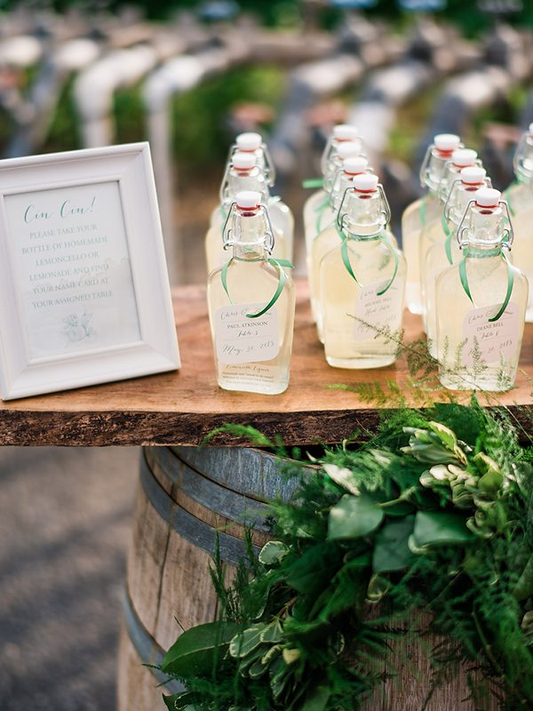 unique wedding favors photo by Ryan Flynn Photography http://ruffledblog.com/walla-walla-vineyard-wedding