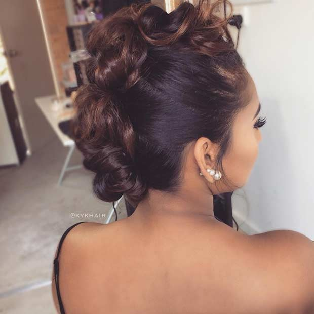 Faux Mohawk Updo for Bridesmaids