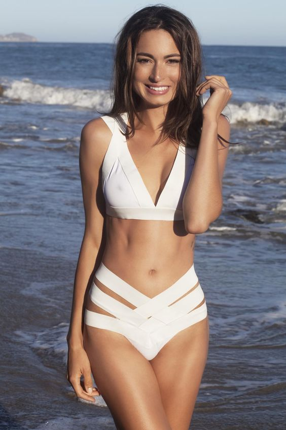 bandage two piece swimsuit