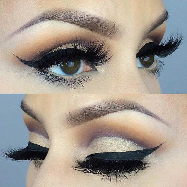 Eye makeup for a wedding