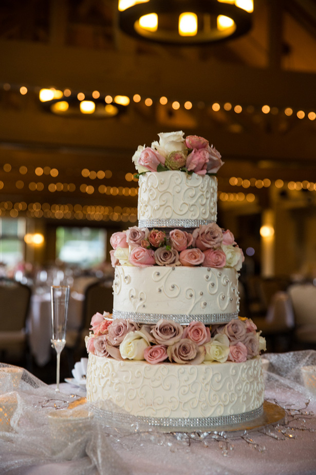 Wedding floral cake - Jeramie Lu Photography