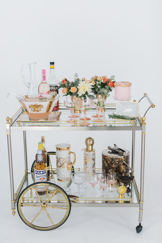Stylish Bar Cart | Alexis June Weddings and @aislesociety