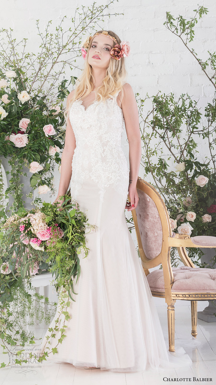 charlotte balbier bridal 2017 sleeveless sweetheart trumpet wedding dress (paige) mv