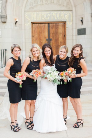 Black bridesmaid dresses - Blaine Siesser Photography