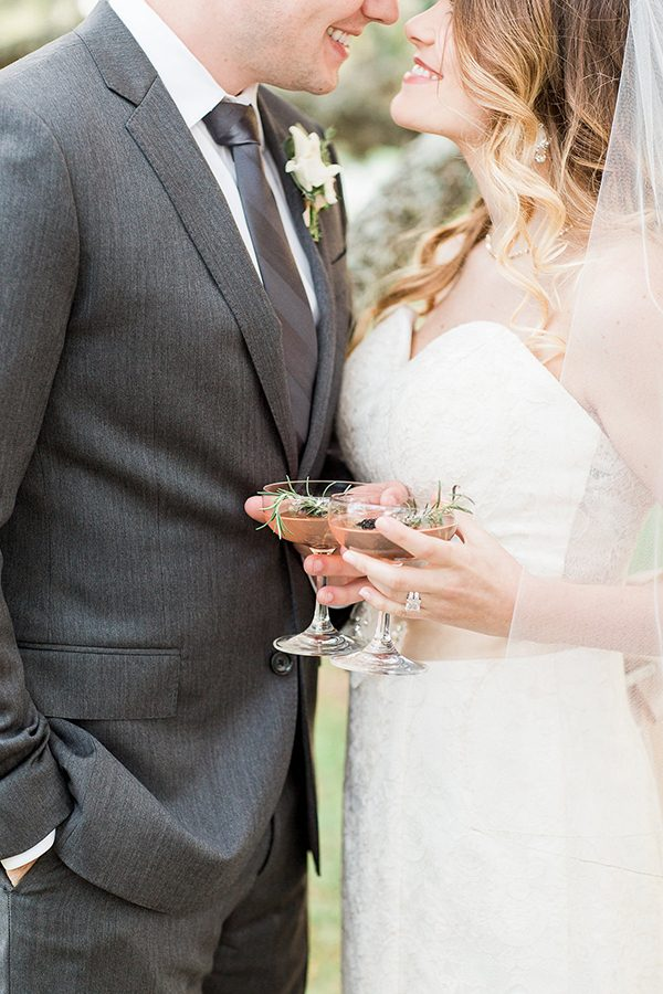 wedding cocktails - photo by Erin Wilson Photography and Angela Sostarich Photography http://ruffledblog.com/southern-oak-tree-wedding-inspiration