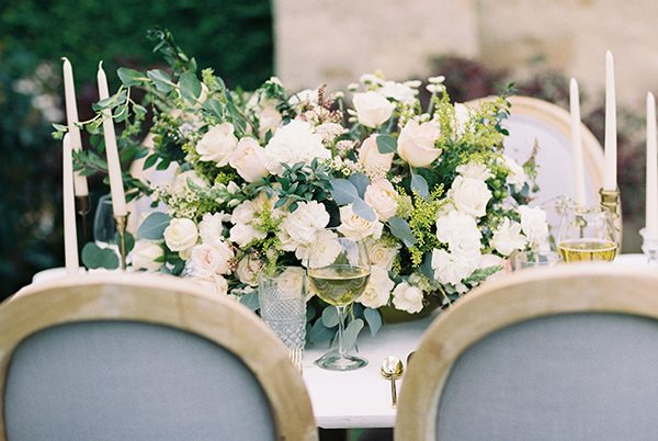 wedding centerpieces - photo by Erin Wilson Photography and Angela Sostarich Photography http://ruffledblog.com/southern-oak-tree-wedding-inspiration