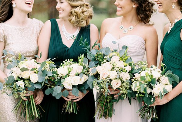 bridesmaids - photo by Erin Wilson Photography and Angela Sostarich Photography http://ruffledblog.com/southern-oak-tree-wedding-inspiration