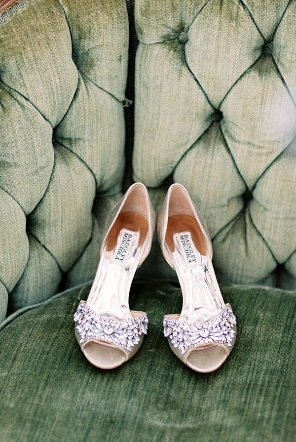 wedding shoes - photo by Erin Wilson Photography and Angela Sostarich Photography http://ruffledblog.com/southern-oak-tree-wedding-inspiration