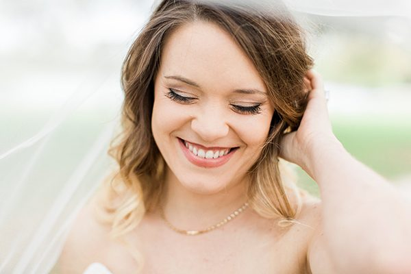 bridal makeup - photo by Erin Wilson Photography and Angela Sostarich Photography http://ruffledblog.com/southern-oak-tree-wedding-inspiration