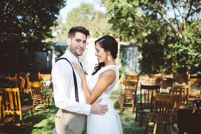 Backyard wedding | Kate Rose Creative Group and Tim Waters Photography