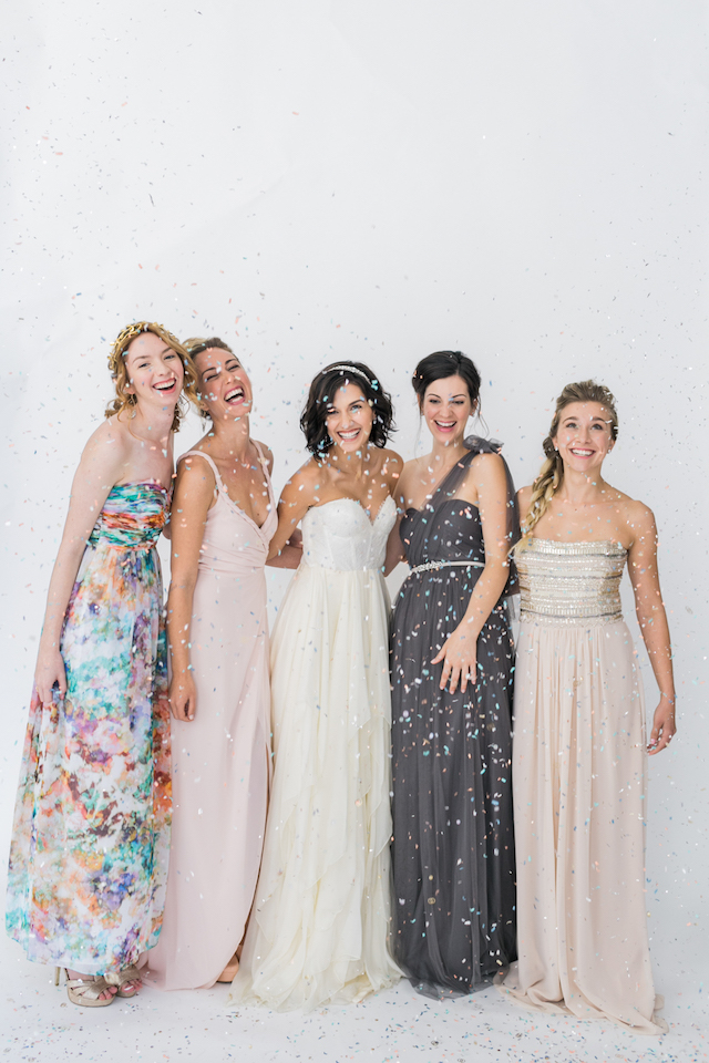 Mis and match bridesmaids dresses | Alexis June Weddings and @aislesociety