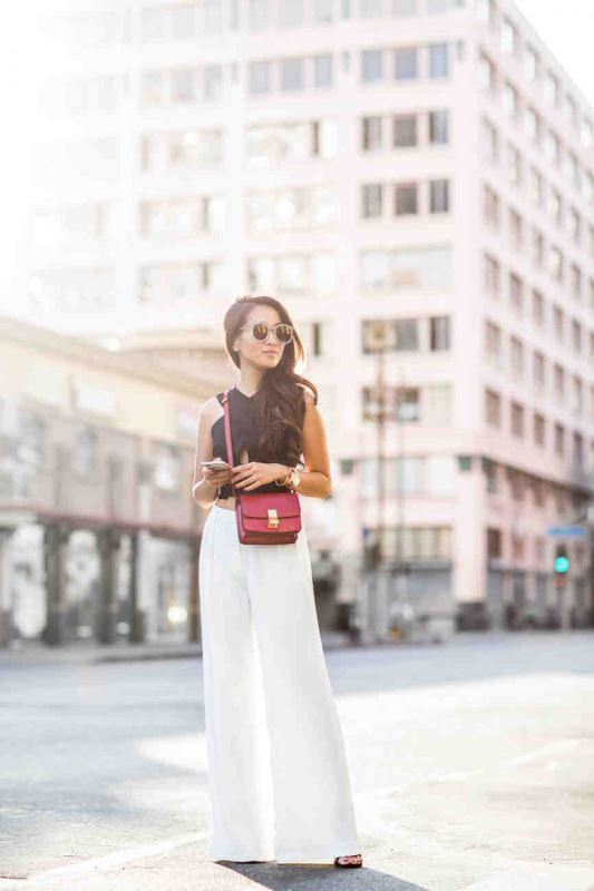 Statement Burgundy Cross Body Bag