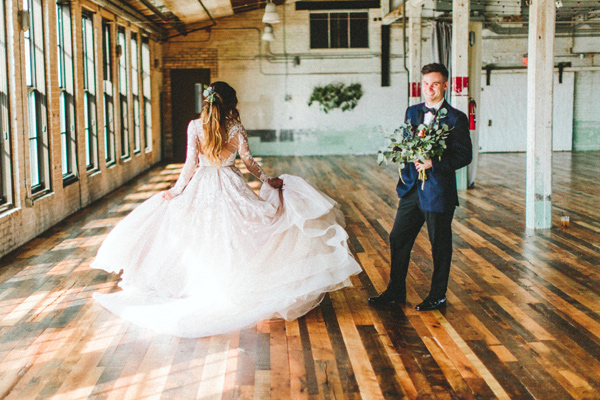 wedding dance - photo by Giving Tree Photography http://ruffledblog.com/copper-fruit-wedding-inspiration