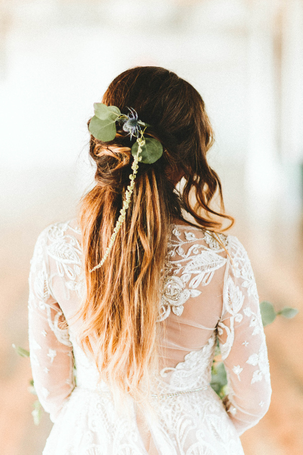 boho bridal hair accessories - photo by Giving Tree Photography http://ruffledblog.com/copper-fruit-wedding-inspiration
