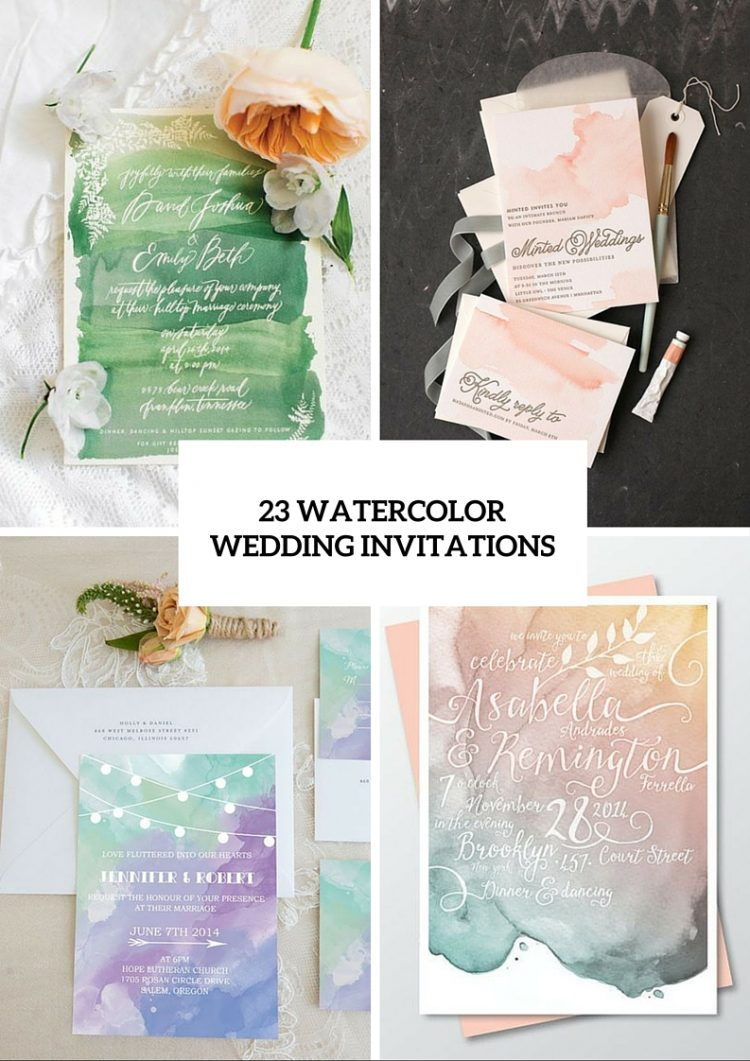 Pretty Watercolor Wedding Invitations To Get Inspired