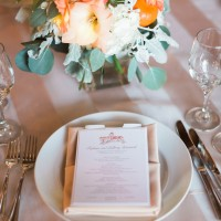 Wedding place setting - Blaine Siesser Photography