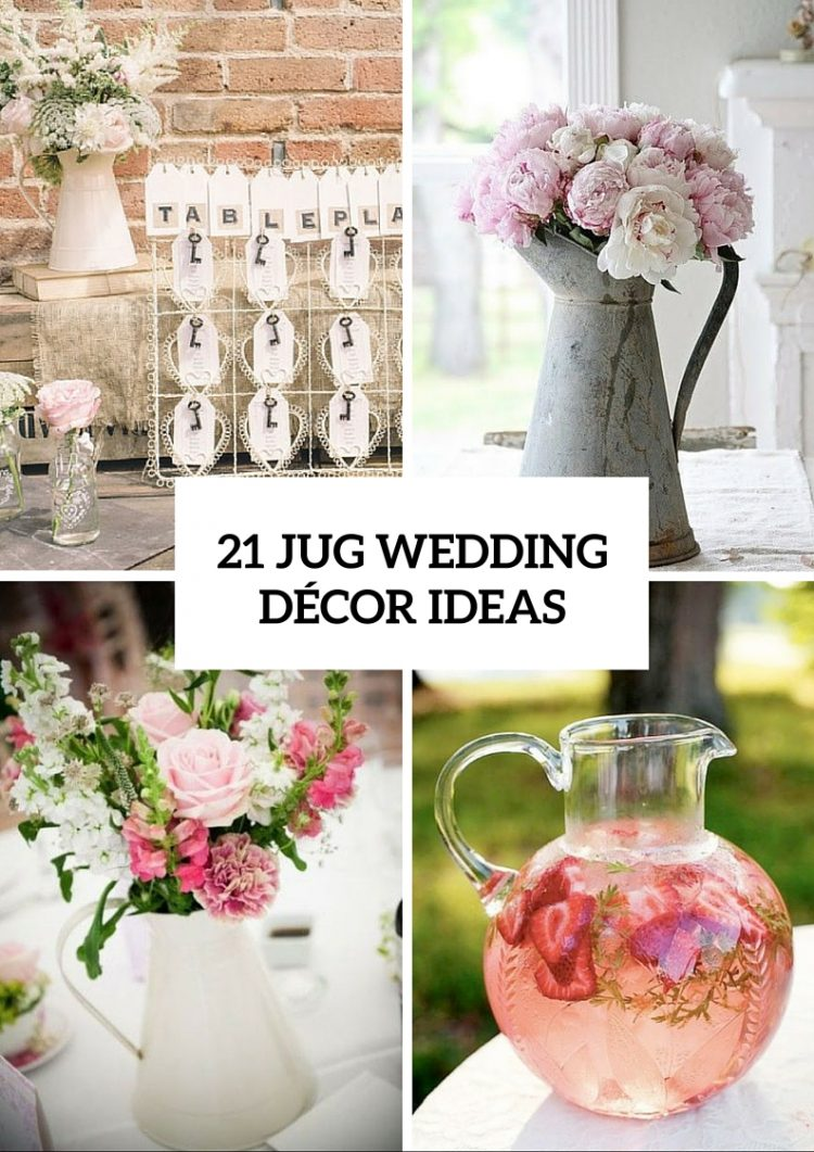 Perfect Ideas To Incorporate Jugs Into Your Wedding