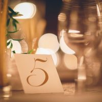 Wedding table number - Kane and Social