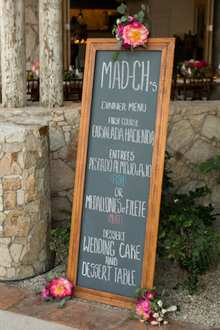 Chalk menu sign | Ana & Jerome Photography