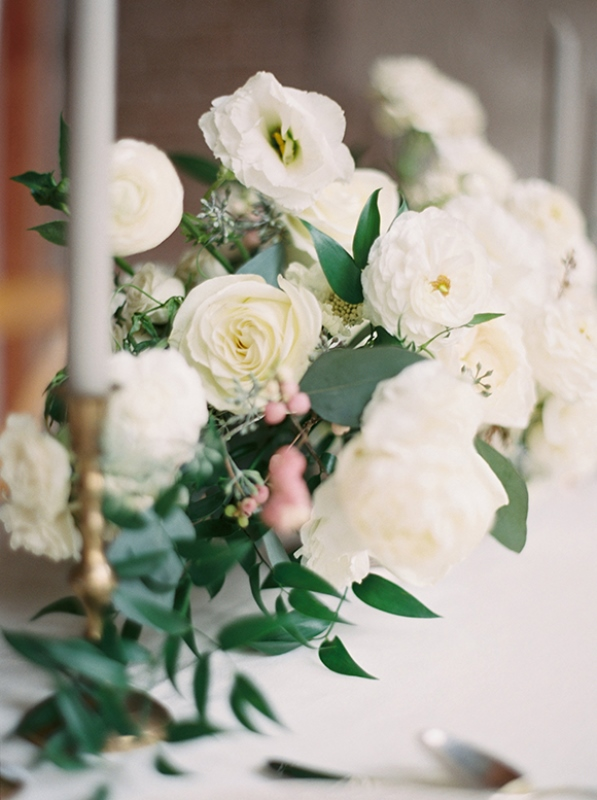 Neutral Organic Industrial Wedding Shoot