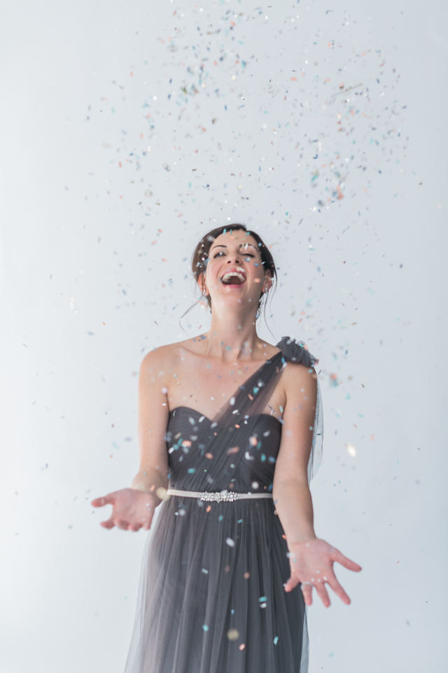 Confetti toss | Alexis June Weddings and @aislesociety