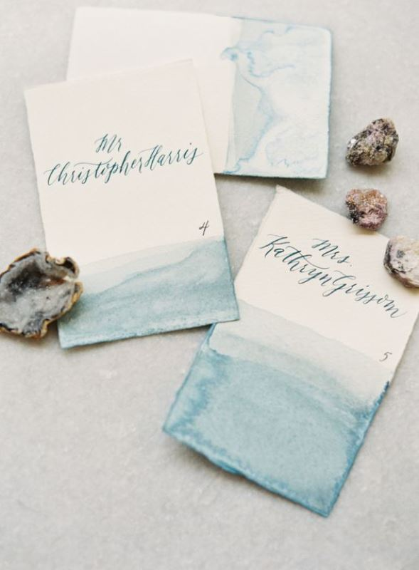 Simply Elegant Watercolor Wedding Invitation